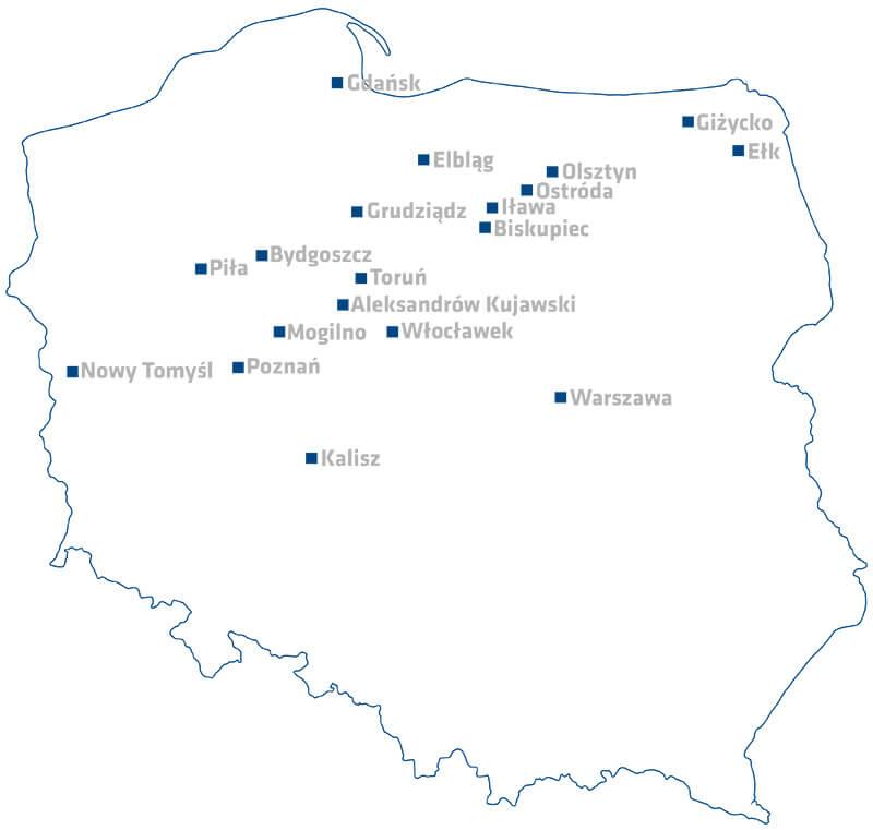 Mapa Polski Na Strone Warp